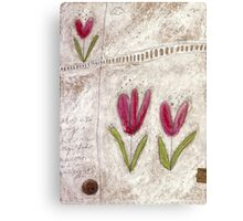 The tulip garden Canvas Print