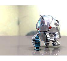 Jo Bot VS Little Blue Bot Photographic Print