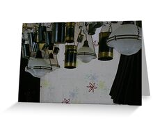 black and white symphony Greeting Card