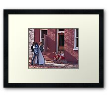 Photo Shoot for Little Girls Framed Print