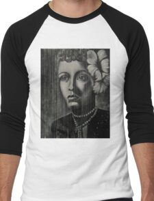 Billie Holiday - low ink Men's Baseball ¾ T-Shirt