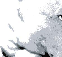 English Bull Terrier Dog, Black and White Pop Art Print Sticker