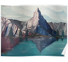 Reflections in the Swiss Alps Poster