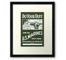 Do Your Duty - Join The US Marines Framed Print