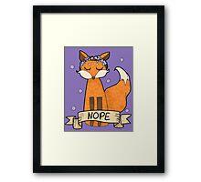 Sassy Fox- Nope Framed Print