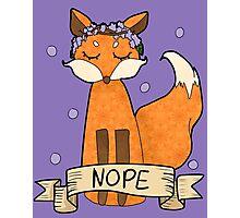 Sassy Fox- Nope Photographic Print