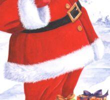 Santa and the cardinal Sticker