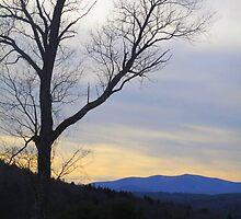 Winter Sunset in Tunbridge Vermont by Joie  Finley Morris