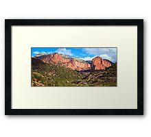 Kolob Canyons Panorama Framed Print