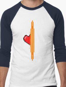 Heart through orange portal (version 1) Men's Baseball ¾ T-Shirt