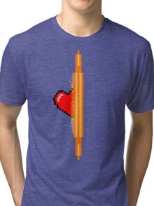 Heart through orange portal (version 1) Tri-blend T-Shirt