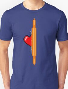 Heart through orange portal (version 1) T-Shirt