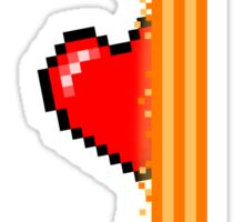 Heart through orange portal (version 1) Sticker