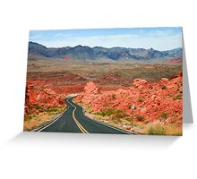 Valley of Fire Road Greeting Card