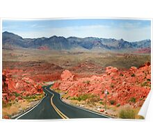 Valley of Fire Road Poster