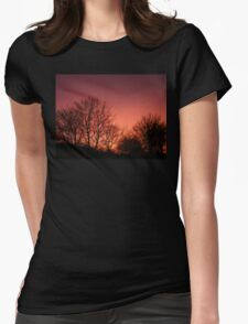 Red sky at night.... Womens Fitted T-Shirt