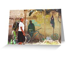 Bike workshop in Nairobi, KENYA Greeting Card