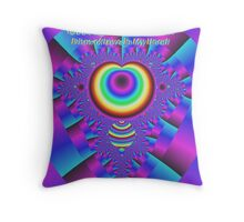 God's Light Explodes Into A Prism of Love in My Heart Throw Pillow