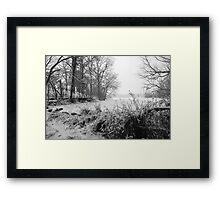 Frozen Silver Lake Framed Print