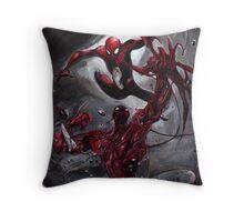 Spiderman Vs Carnage Throw Pillow