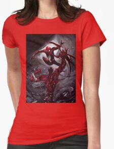 Spiderman Vs Carnage Womens Fitted T-Shirt