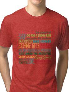 Christmas Rules Tri-blend T-Shirt