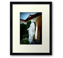 Statue of Mother Mary Framed Print