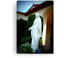 Statue of Mother Mary Canvas Print