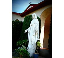 Statue of Mother Mary Photographic Print