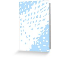Abstract Pastel Blue Background Greeting Card