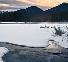 Frozen Sprague lake by Paul Gana