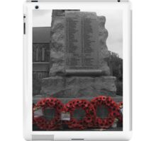 We will remember them! iPad Case/Skin