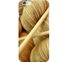 Hand Dyed Wool with Knitting Needles iPhone Case/Skin