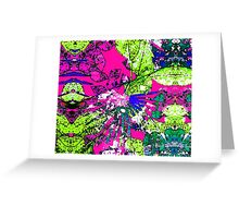 Abstract Multicolor Background Greeting Card