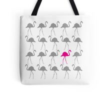 One Pink Flamingo in the Flock Tote Bag