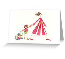 "Back to school, illustration of the story ""backpack"" Greeting Card"