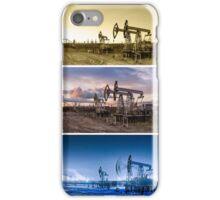 3 panoramas oil pumpjack. iPhone Case/Skin