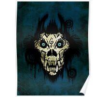 Ferocity Blue Poster