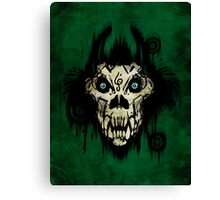 Ferocity Green Canvas Print