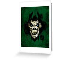 Ferocity Green Greeting Card