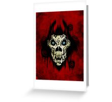 Ferocity Red Greeting Card