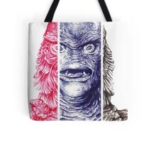 Creature From the Black Lagoon,  A ball point pen portrait.  Tote Bag