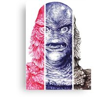 Creature From the Black Lagoon,  A ball point pen portrait.  Canvas Print