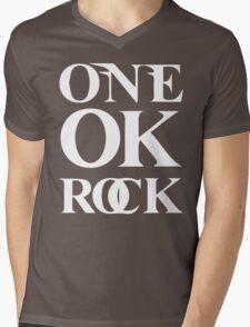 ONE OK ROCK (Alt Logo - White) Mens V-Neck T-Shirt