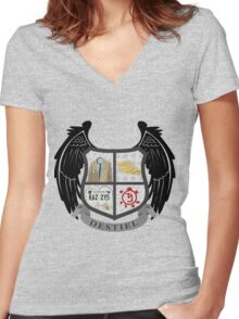Destiel coat of arms Women's Fitted V-Neck T-Shirt