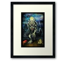 Werewolf-Moon Camp Framed Print