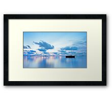 Tranquil Blue - Victoria Point Qld Framed Print