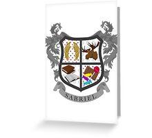 Sabriel coat of arms Greeting Card