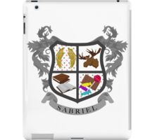 Sabriel coat of arms iPad Case/Skin