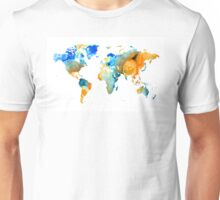 World Map Art - Map Of The World 14 - By Sharon Cummings Unisex T-Shirt